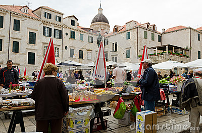 Dubrovnik Market Editorial Stock Image
