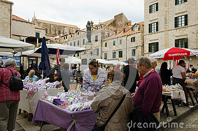 Dubrovnik, the Market Editorial Stock Photo