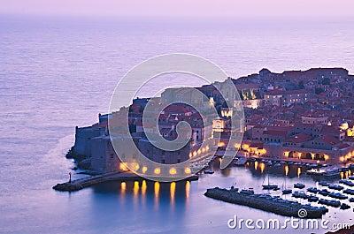 Dubrovnik by night, Croatia