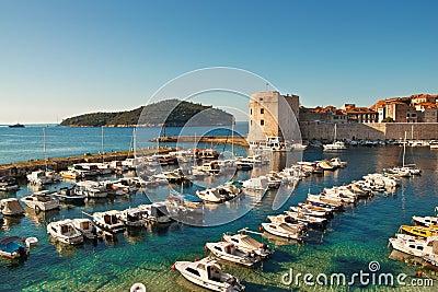 Dubrovnik old town pier