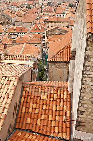Dubrovnik orange roof tops