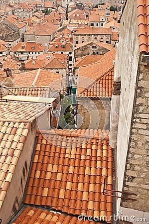 Dubrovnik orange roof tops