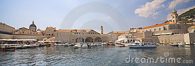 Dubrovnik - panoramic view from seaside