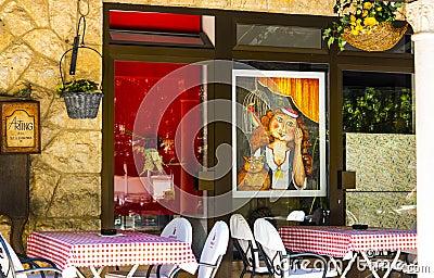 Dubrovnik retro cafe Editorial Stock Image