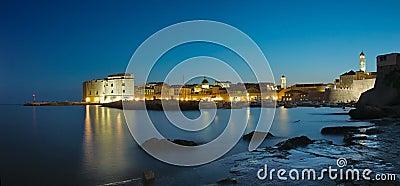 Dubrovnik town at night