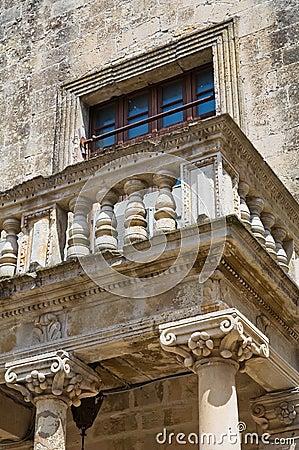 Ducal palace of Castromediano-Limburg. Cavallino. Puglia. Italy.