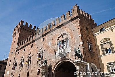 Ducal Palace. Ferrara. Emilia-Romagna. Italy.
