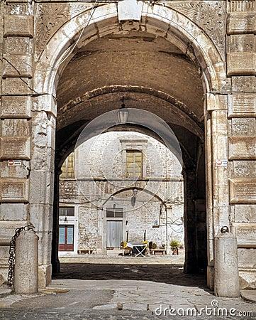 Ducal Palace. Giovinazzo. Apulia.