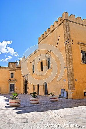 Ducal palace. Presicce. Puglia. Italy.