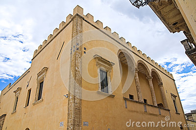 Ducal palace. Presicce. Puglia. Italy.