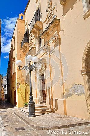 Ducal palace. Taurisano. Puglia. Italy.