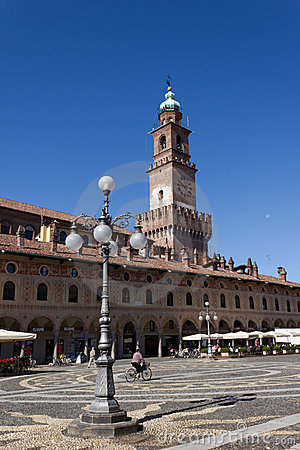 Ducal Square (Vigevano) Editorial Photography
