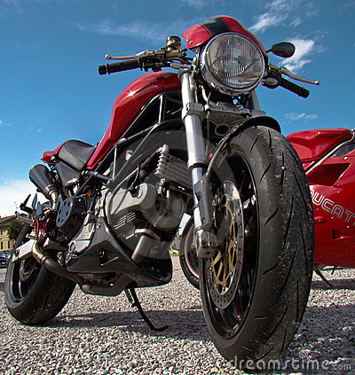 Free Ducati Monster Royalty Free Stock Photos - 20029308