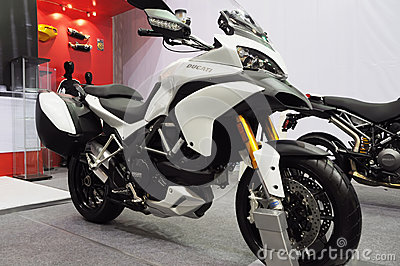 Ducati motorbike show Editorial Stock Image