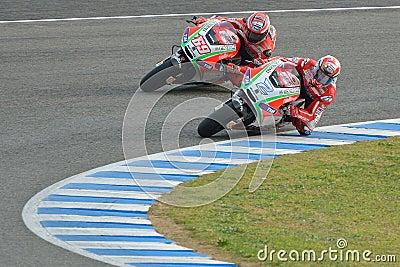 Ducati team in Jerez Test Editorial Stock Image