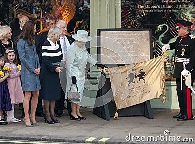 Duchess of Cornwall, Elizabeth II, Queen, Queen Elizabeth, Queen Elizabeth II, Queen Elizabeth Editorial Stock Image