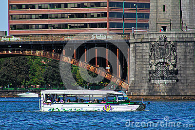 Duck boat tours, Boston, MA Editorial Photography