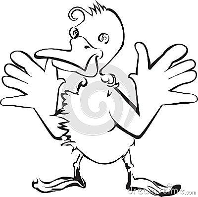 Duck cartoon