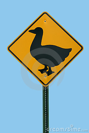 Free Duck Crossing Sign Stock Image - 2918501