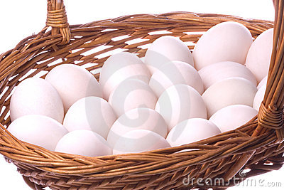 Duck Eggs Isolated