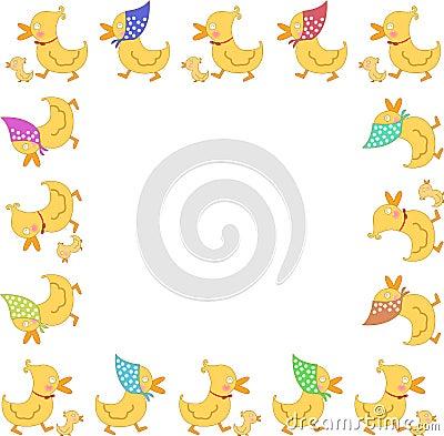 Duck family frame