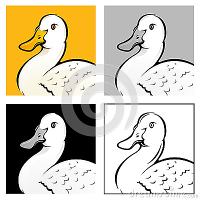 Free Duck Head Illustration Royalty Free Stock Photos - 26729658