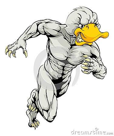 Free Duck Mascot Running Stock Photos - 46085503