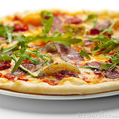 Free Duck Meat Pizza Stock Photos - 13659583
