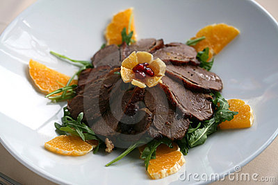 Duck meat slices