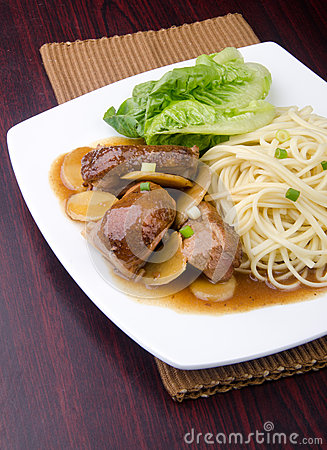 Duck noodle. asia food