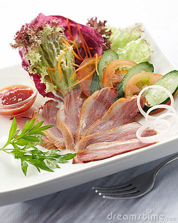 Free Duck Salad Stock Photography - 8971392