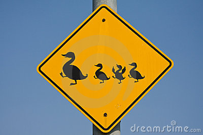 Duck traffic sign