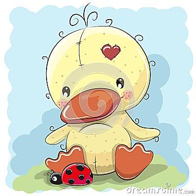 Free Duck With Ladybug Stock Photography - 75144582