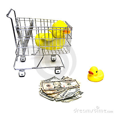 Ducks, Cart, Money