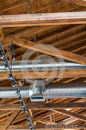 Free Ductwork And Rafters Stock Images - 88431454