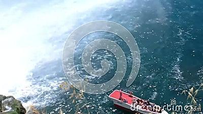 Duden Waterfalls in city of Antalya, Turkey. Summer stock video