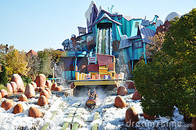 Dudley Do-Right s Ripsaw Falls in Universal Studi Editorial Photo