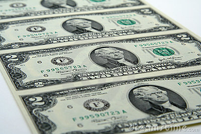 Due fatture non tagliate del dollaro