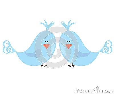 Due uccelli di amore