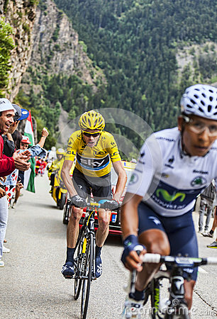 Duel at Alpe D Huez Editorial Stock Photo