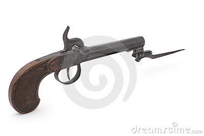 Antique duelling pistol