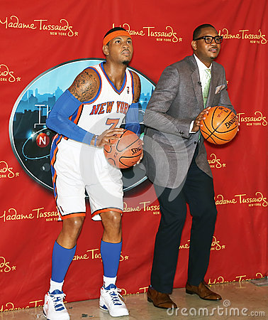 Dueling Carmelo Anthonys Editorial Stock Photo