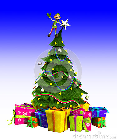 Duende na árvore de Natal