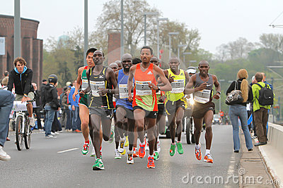 Duesseldorf Marathon Editorial Photo