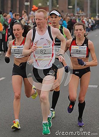 Duesseldorf Marathon Editorial Photo