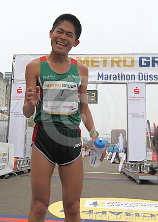 Duesseldorf Marathon Editorial Stock Photo