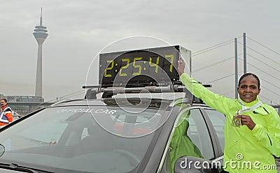Duesseldorf Marathon Editorial Stock Image