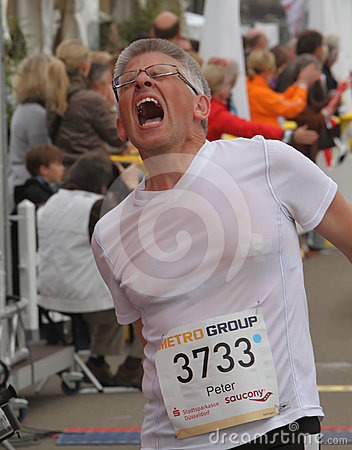 Duesseldorf Marathon Editorial Image