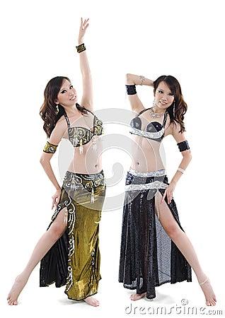 Duet belly dancer