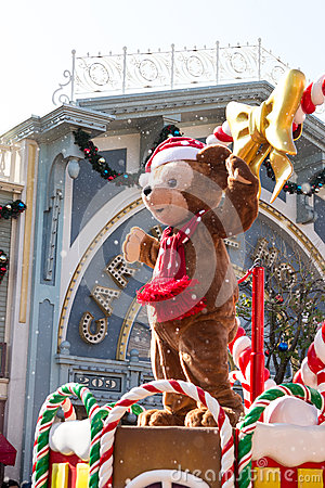 DUFFY THE DISNEY BEAR Celebrate Christmas New Year Editorial Photo
